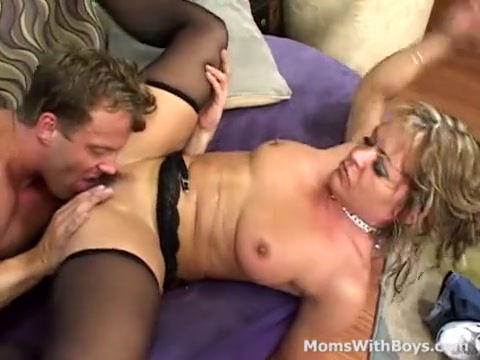 hot Mama Releases Tension Fucking A Young Cock