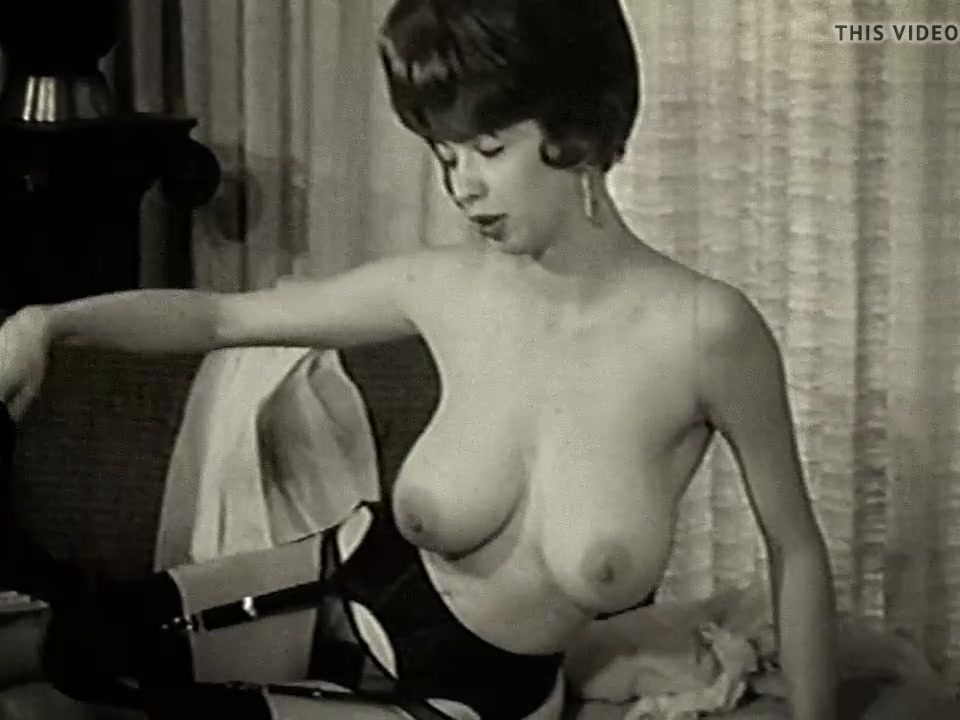 TWILIGHT TIME - vintage scene 60's big boobs tease